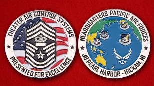 US Headquarters Pacific Air Forces Theater Air Control Systems Challenge Coin