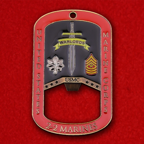 US Marine Corps 2nd Light Battalion  2nd Marines Challenge Сoin