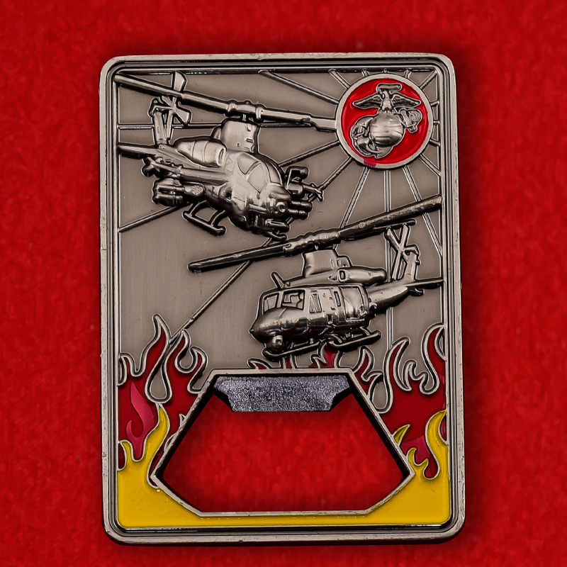 "US Marine Corps HMLA-267 ""Stingers"" Challenge Coin - obverse"