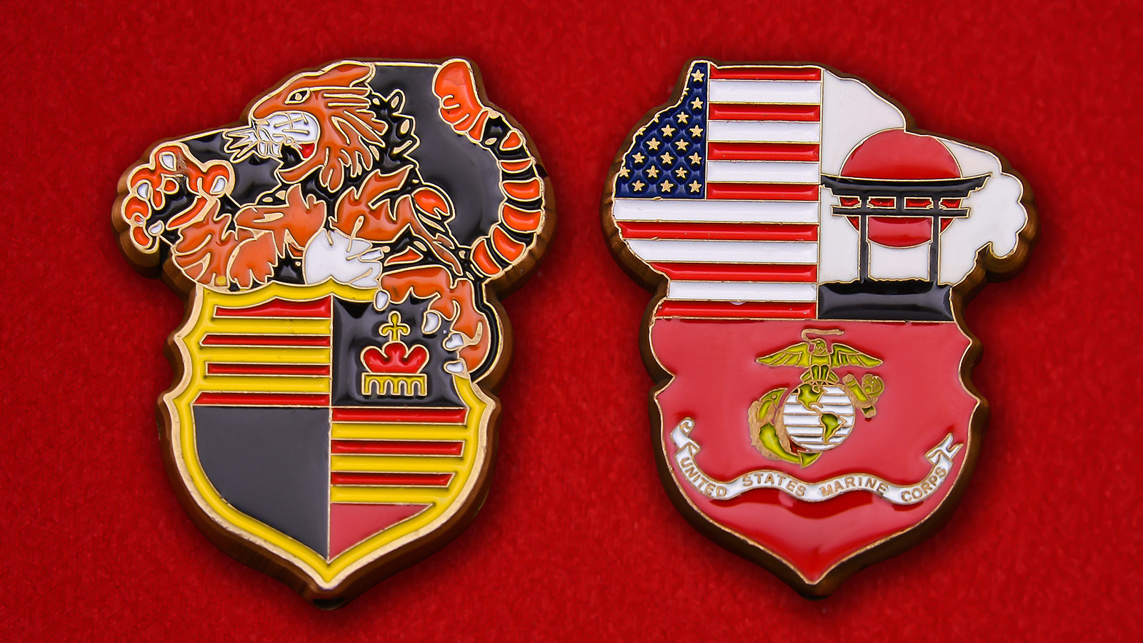 US Marine Corps in Japan Challenge Coin