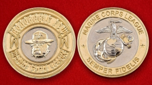 US Marine Corps League Honarable Challenge Coin