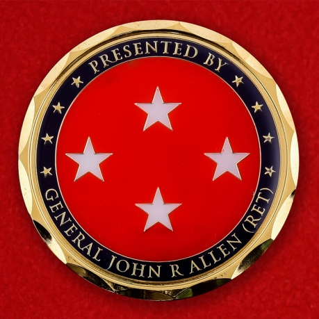 US Marine Corps Presented By General John R Allen Challenge Coin