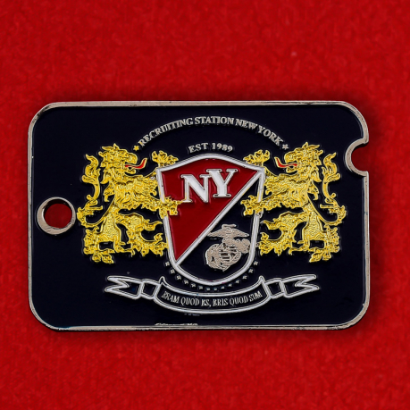 US Marine Corps Recruiting Station New York Challenge Coin