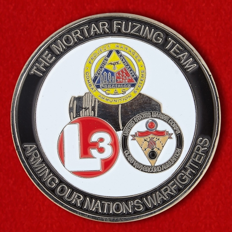 US Marine Corps The Mortar Fusing Team L3 Challenge Coin - obverse