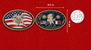 US Navy Mustang Association Bahrain Chapter Challenge Coin