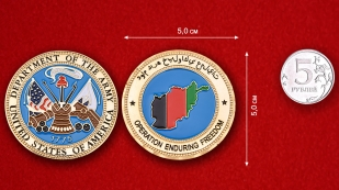 US Navy Operation Enduring Freedom Chalenge Coin