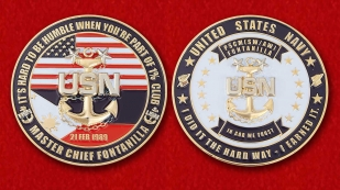 US Navy PSCM (AW/SW) Master Chief Fontanilla Challenge Coin