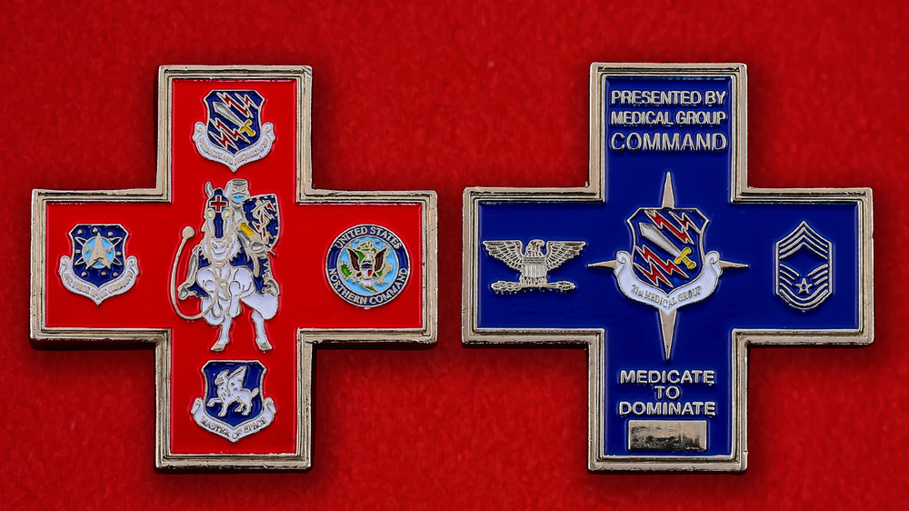 US Northern Command 21st Medical Group Challenge Coin - both sides
