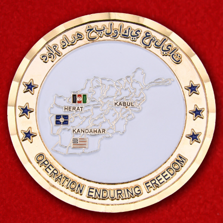 US Servicemans Operation Enduring Freedom Challenge Coin