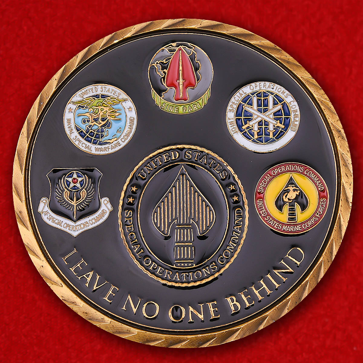 "US Special Operations Command ""Leave No One Behind"" Challenge Coin"