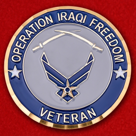 USAF 1st Class Airman Operation Iraqi Freedom Veteran Challenge Coin