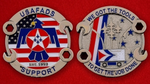 USAF AD 0Support Squadron Challenge Coin - both sides
