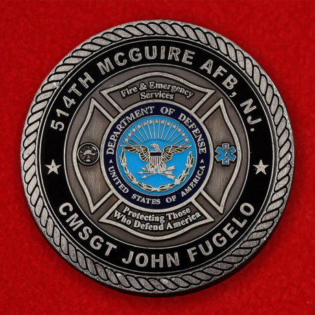USAF Fire Protection 514th McGuire AFB Challenge Coin - obverse
