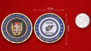 USFOR Operation Enduring Freedom In Afghanistan Challenge Coin