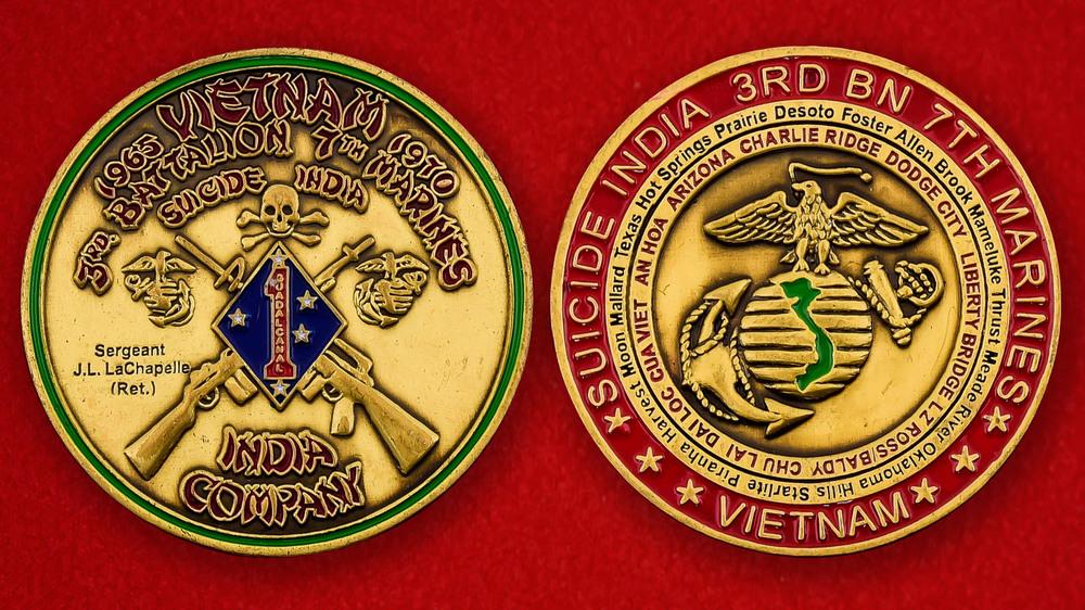 USMC India Company 3rd Battalion 7th Marines Challenge Coin
