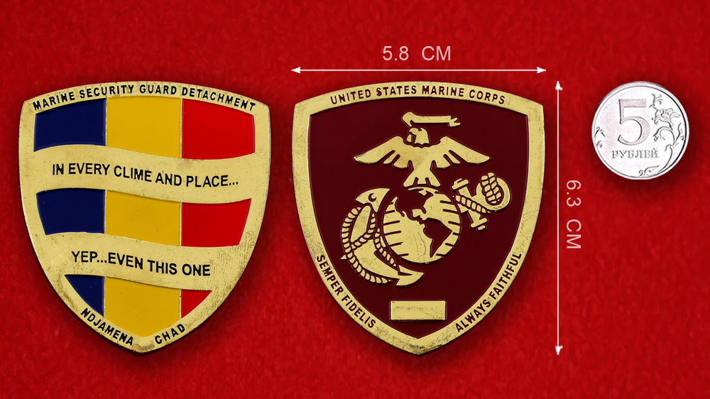 USMC Marine Secutity Guard Detachment In Ndjamena, Chad Challenge Coin