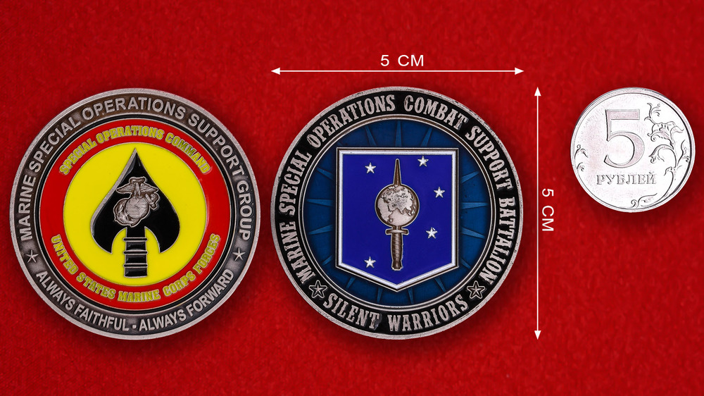 USMC Special Operations Command Combat Support Battalion Silent Warriors Challenge Coin