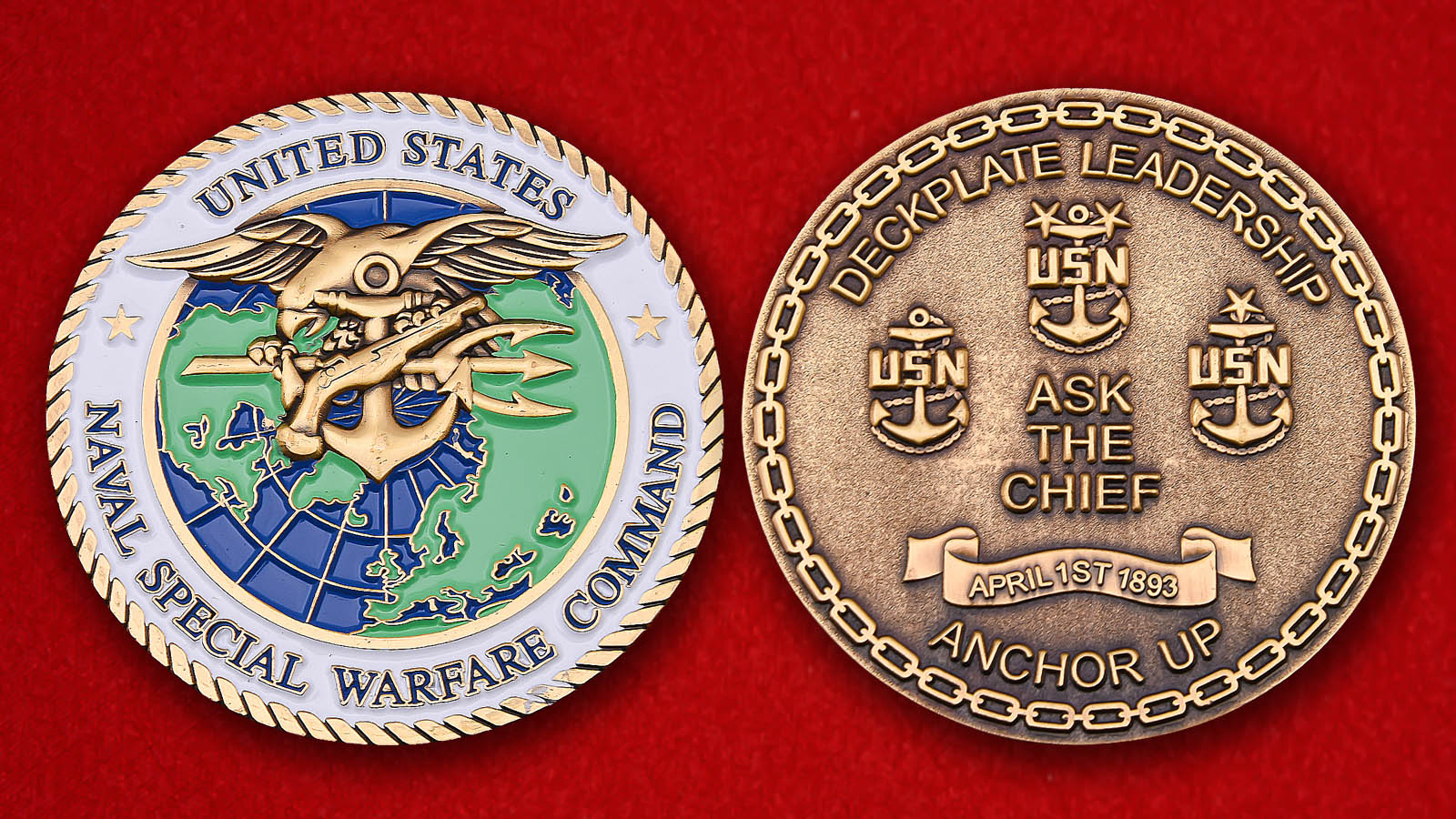 USN Naval Special Warfare Command Challenge Coin