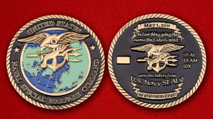 USN Naval Special Warfare Command SEALs Team Six Challenge Coin