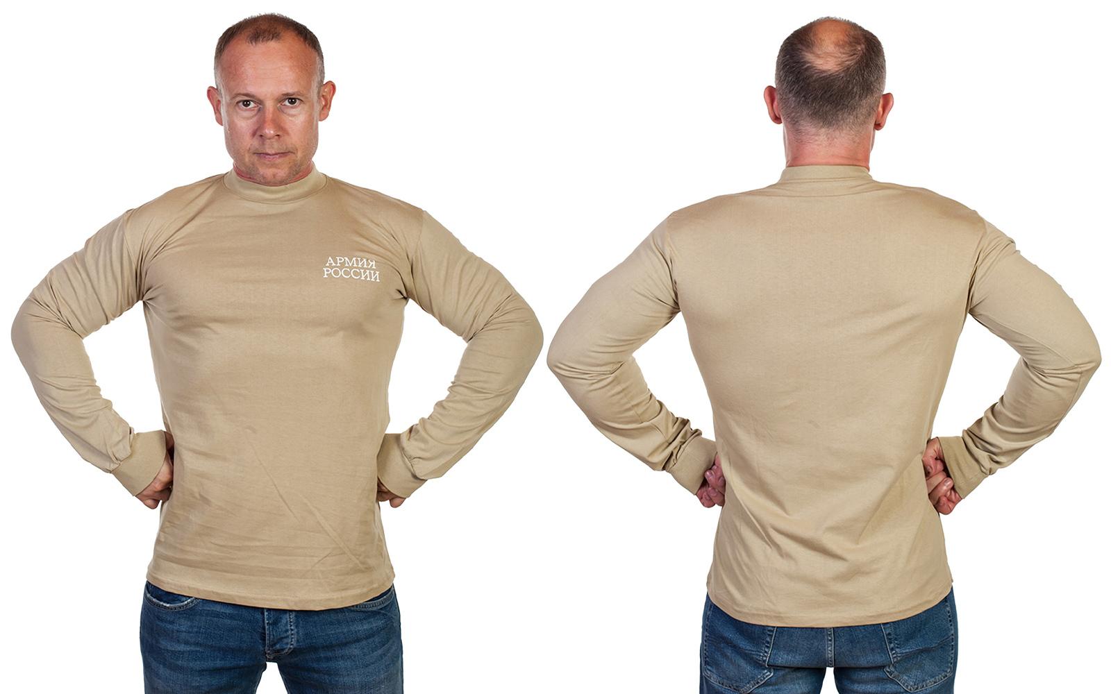 Купить уставную футболку Армии России с длинными рукавами