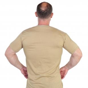 Уставная футболка песочного цвета с доставкой