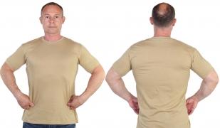 Уставная футболка песочного цвета - онлайн в Военпро