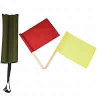 Уставные сигнальные флажки (красный и желтый) в чехле олива