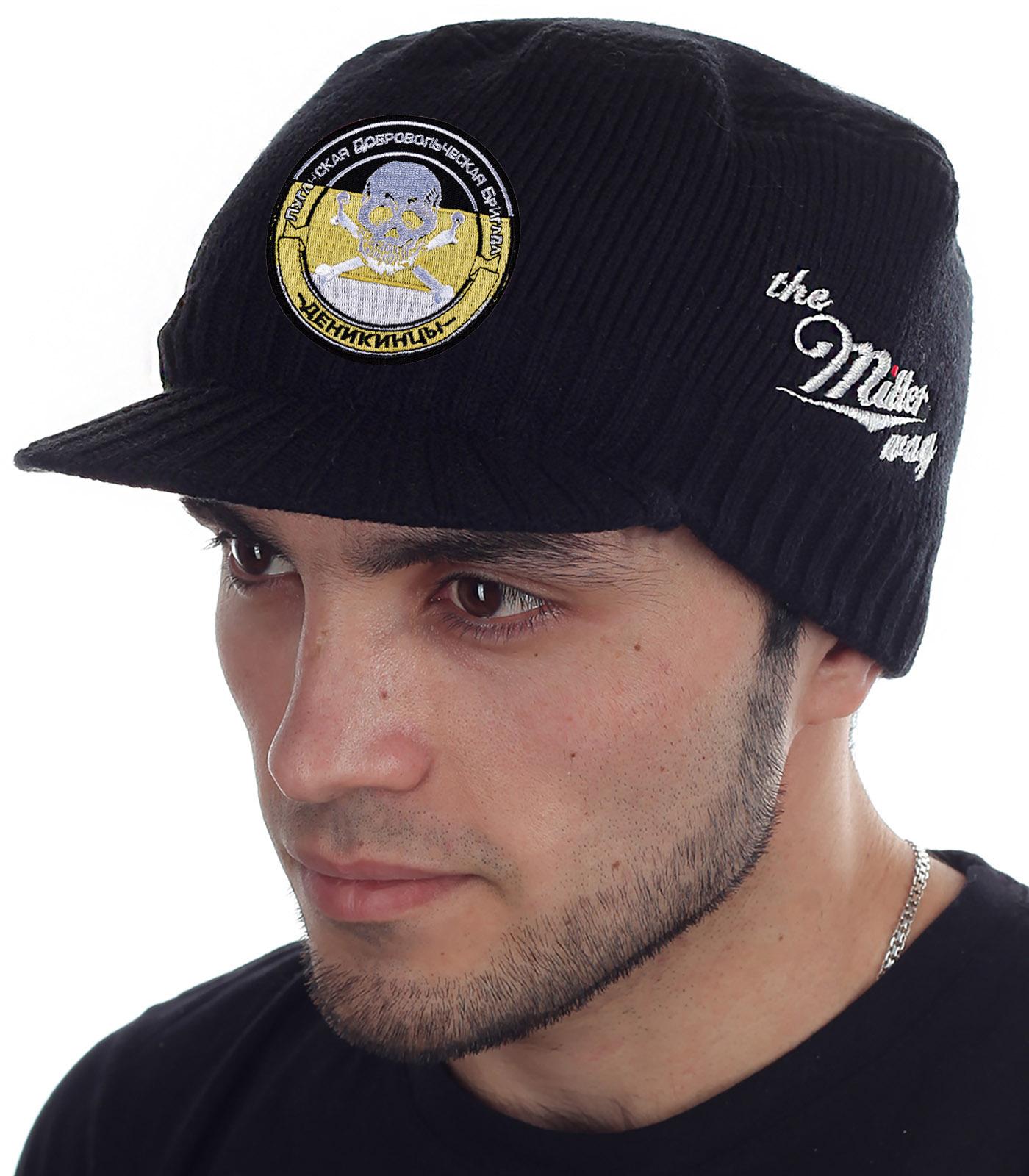 Утепленная брендовая шапка с козырьком от Miller Way - купить в подарок