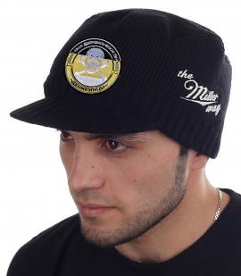 Утепленная брендовая шапка с козырьком от Miller Way - купить оптом