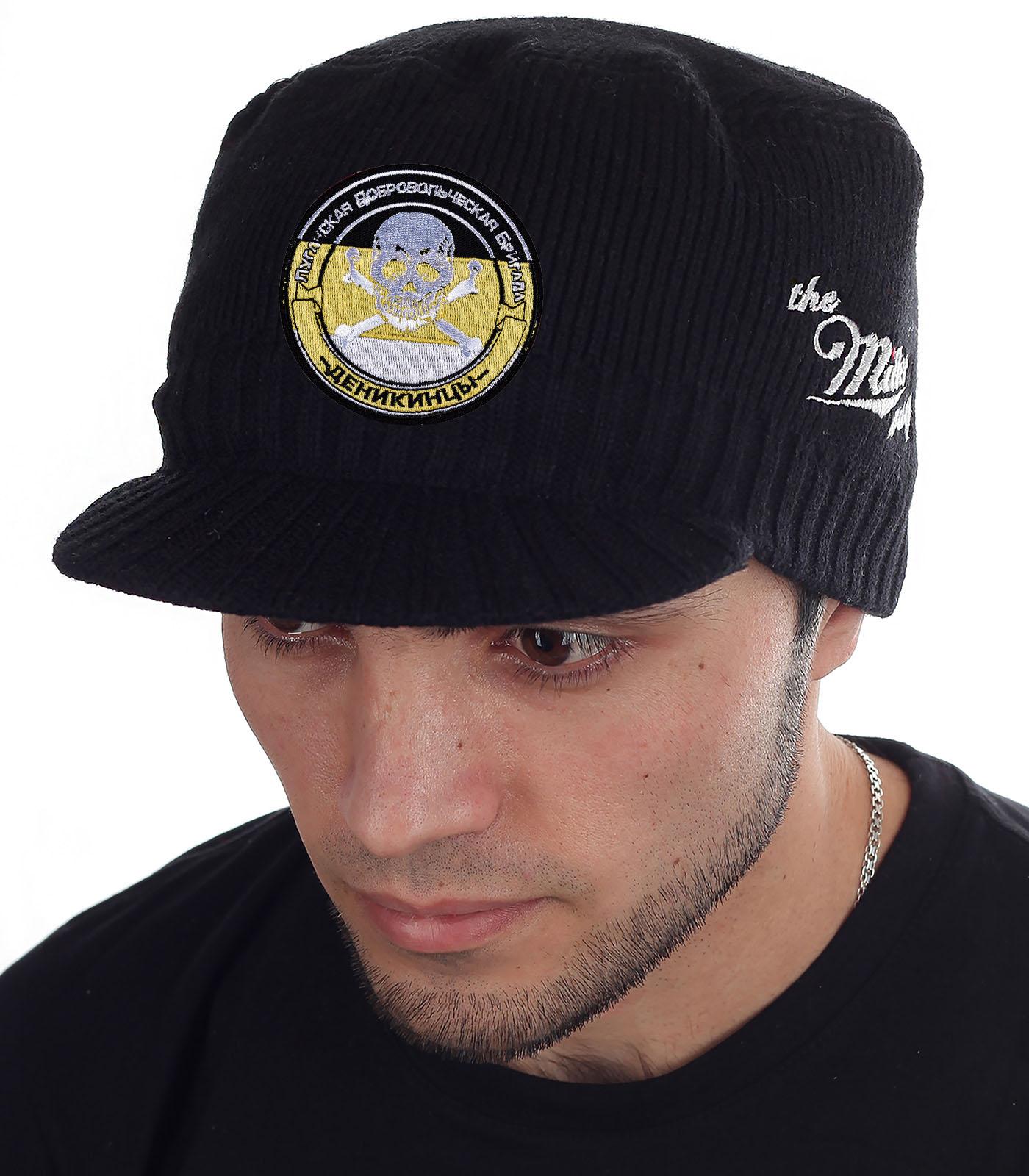 Утепленная брендовая шапка с козырьком от Miller Way - купить онлайн