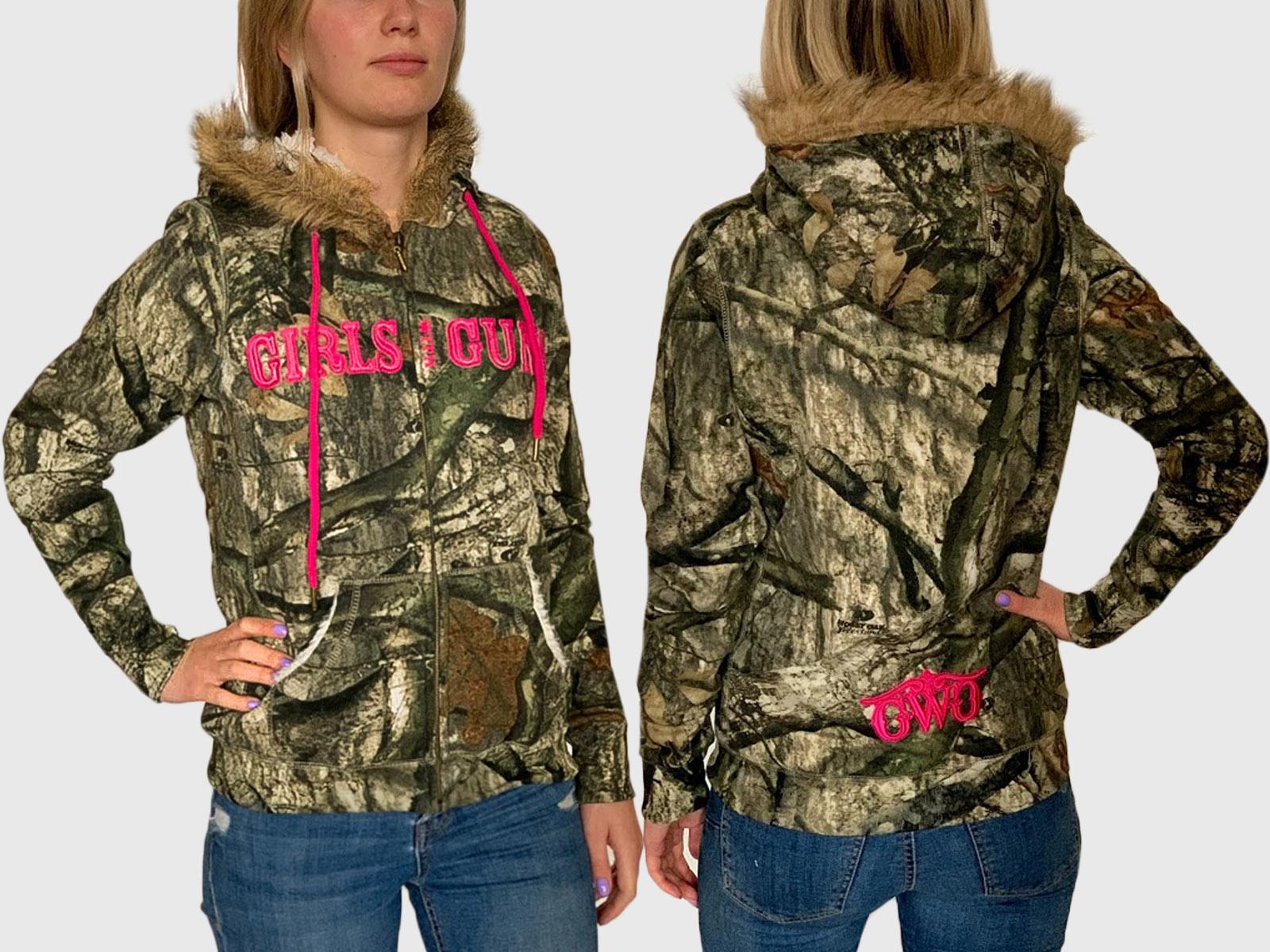 Женская утепленная куртка-толстовка Girls with guns