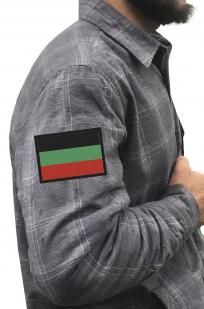 Утепленная рубашка с вышитым шевроном Казачества Терского - купить с доставкой