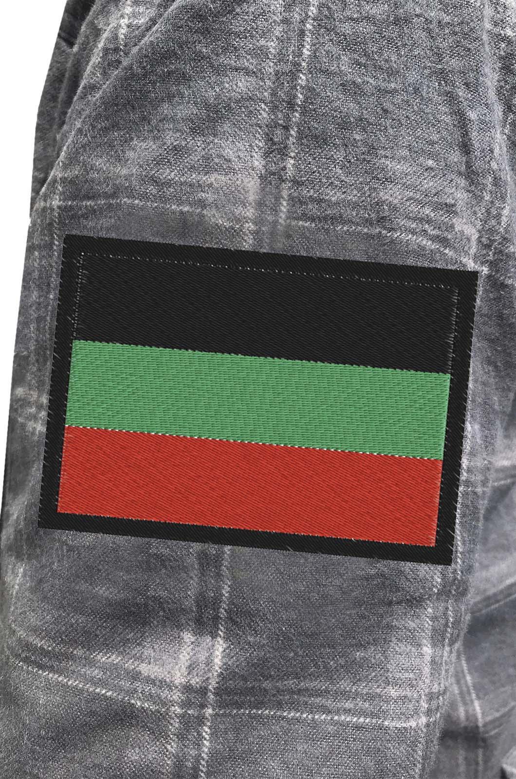 Утепленная рубашка с вышитым шевроном Казачества Терского - заказать с доставкой