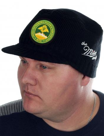 Утепленная стильная шапка с козырьком от Miller - заказать оптом