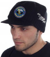 Утепленная вязаная шапка-кепка от Miller Way - купить онлайн