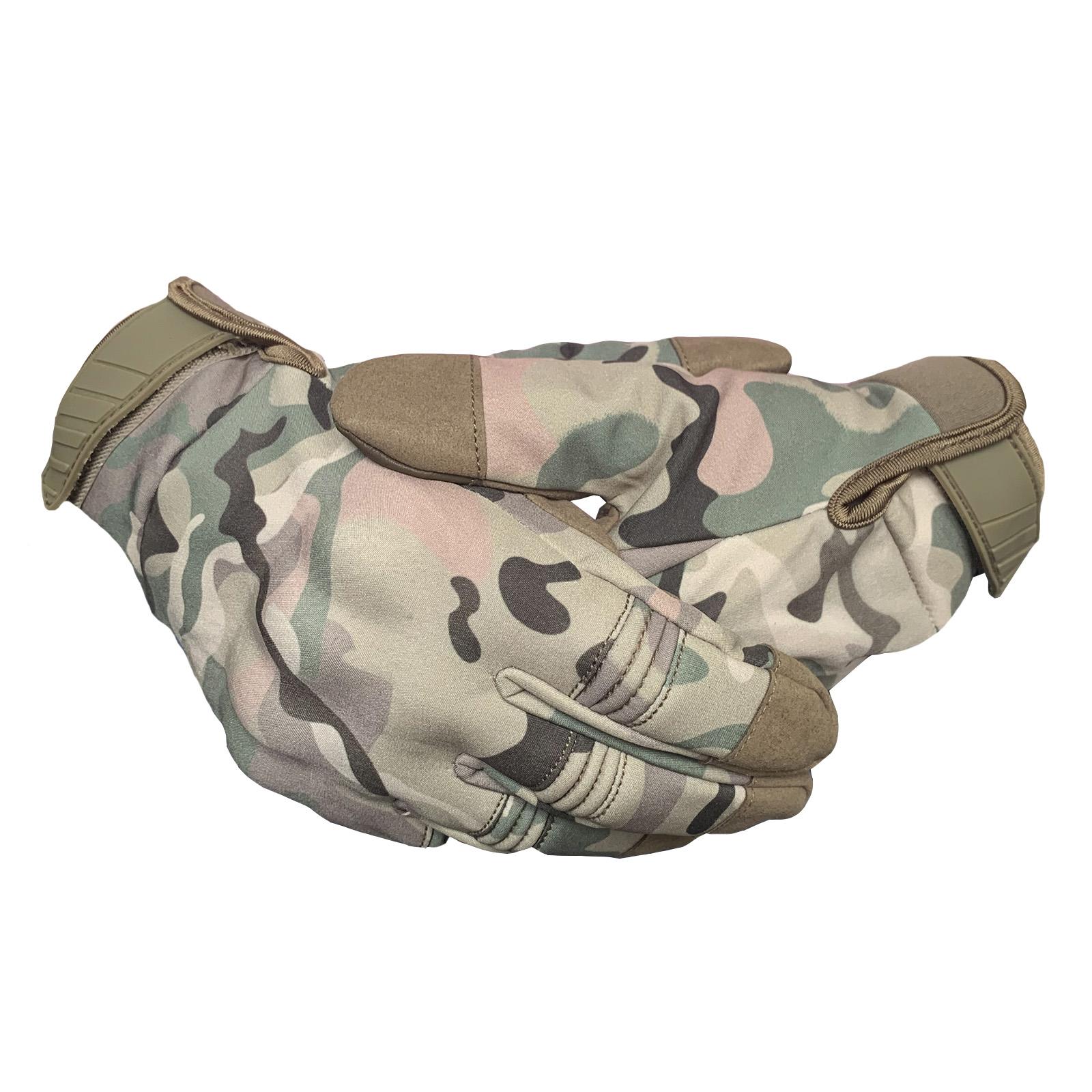 Утеплённые перчатки камуфляж Multicam