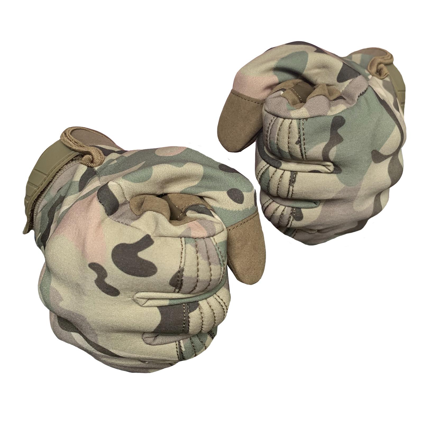 Камуфляжные зимние перчатки для мужчин
