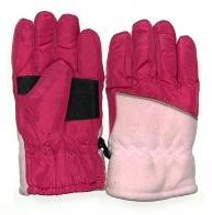 Утепленные розовые перчатки