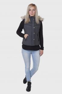 Утепленный женский жилет с капюшоном от Aeropostale (США). оптом в Военпро
