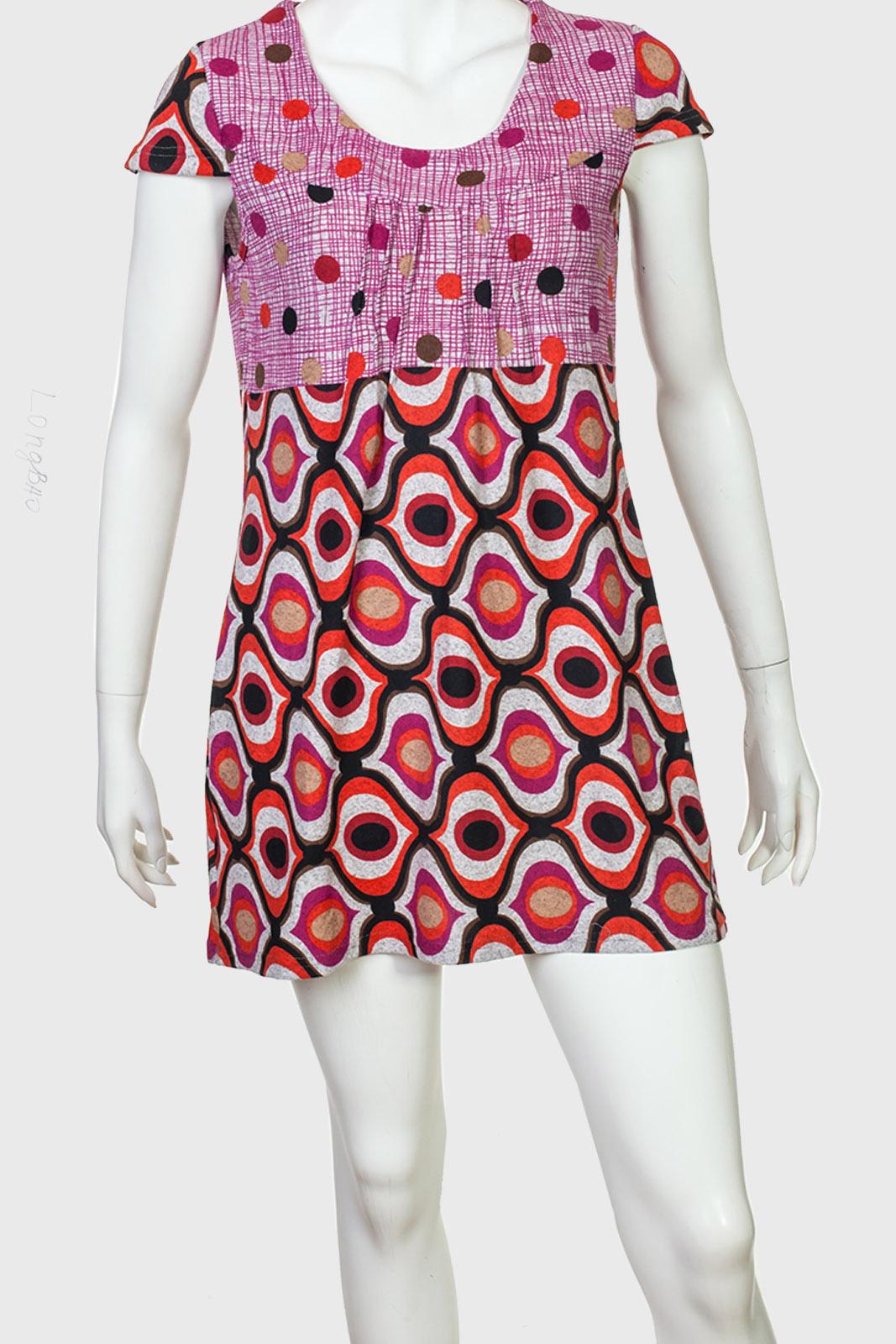 Утонченное платье с топом в горошек от Longbao