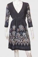 Утонченное женское платье с большим запахом от Coexis