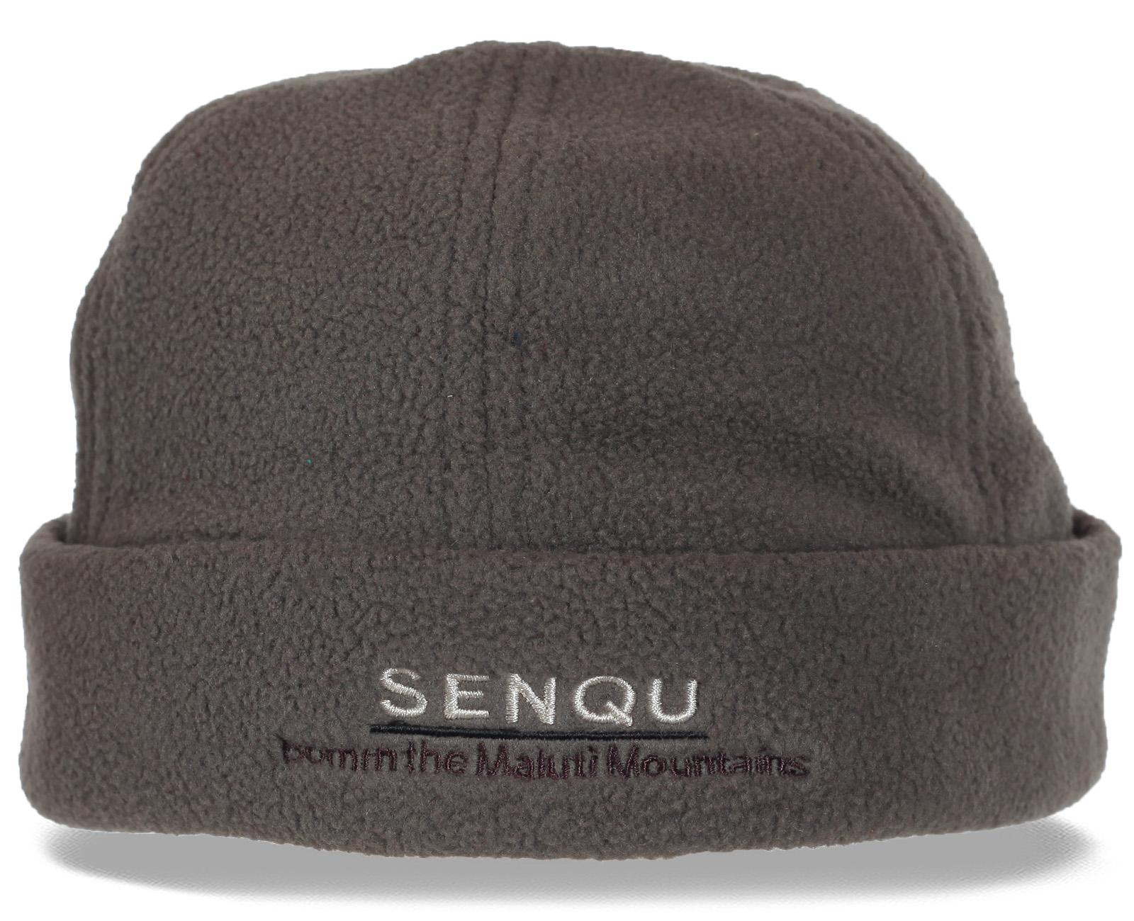 Уютная флисовая мужская шапка с отворотом SENQU. Долго не раздумывайте, покупайте, будьте уверены – теперь Вы точно не замерзнете!