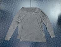Уютная женская кофточка серого цвета