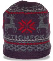 Уютная женская шапка на флисе. Очень теплая модель для современных девушек