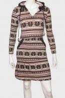 Уютное женское платье с капюшоном от Earthbound