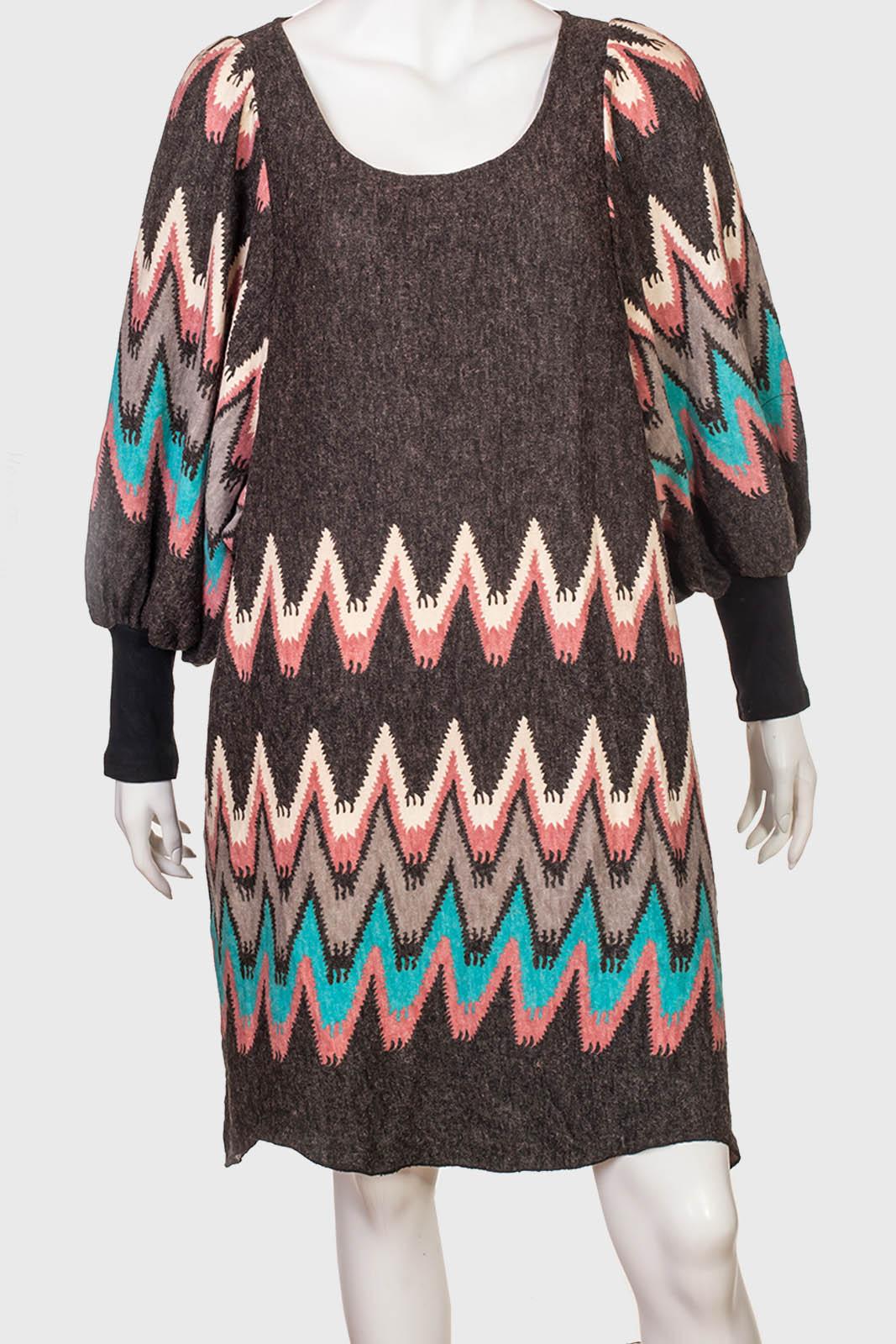Уютное женское платье с симпатичным принтом