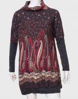 Уютное женское платье с воротником-хомутом от ZB