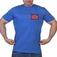 Васильковая футболка с нашивкой Гюйс ВМФ