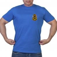 Васильковая футболка с шевроном Балтфлота