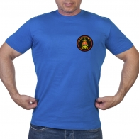 Васильковая футболка с шевроном Балтийского флота